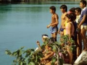 Kids at Xel-Ha Park in Quintana Roo