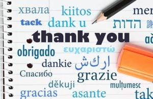"""""""Thank you"""" in different languages"""