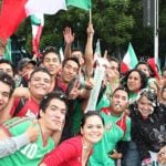 Football fans in Mexico