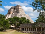 Pyramid of the Magician in the ancient city of Uxmal