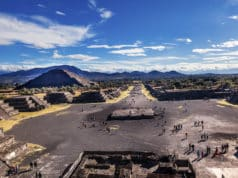 Avenue of Dead and Sun Pyramid Teotihuacan Mexico City Mexico