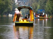 Colorful boats in Xochimilco