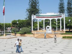 Town plaza in Las Choapas Veracruz in Mexico City
