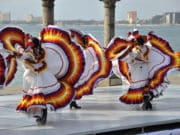 Mexican folk dancers in Puerto Vallarta