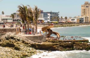 Swimming pool along the malecon in Mazatlan